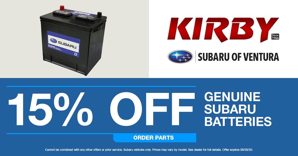 Genuine Subaru Batteries