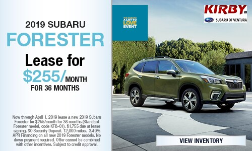 March Offer - 2019 Subaru Forester