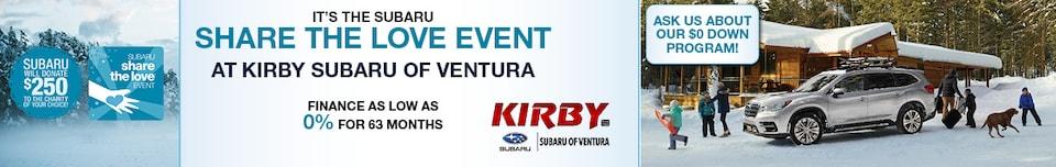 It's the Subaru Share the Love Event