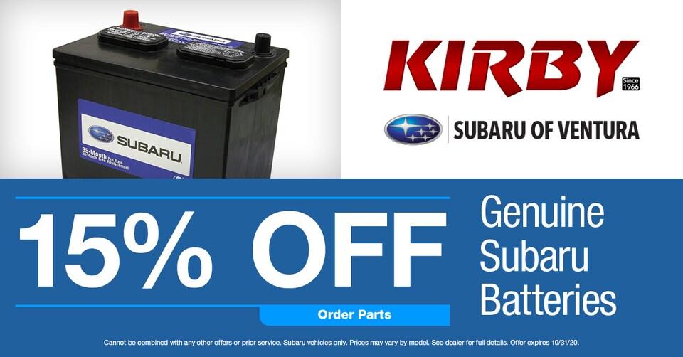 15% OFF Genuine Subaru Batteries