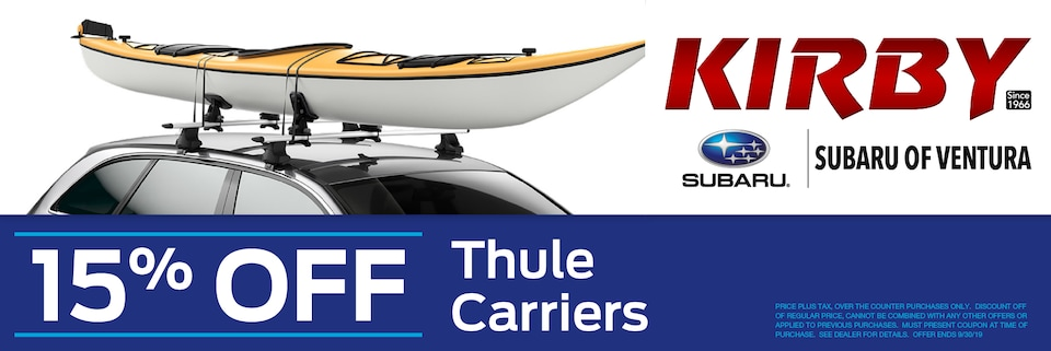 15% OFF Thule Carriers
