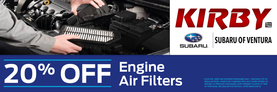 20% OFF Engine Air Filters