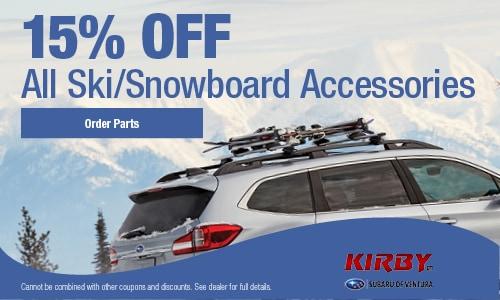 15% OFF Ski/Snowboard Accessories