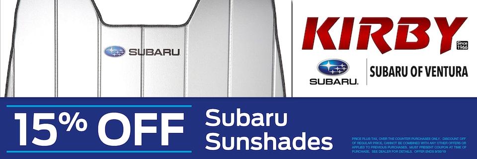 15% OFF Subaru Sunshades