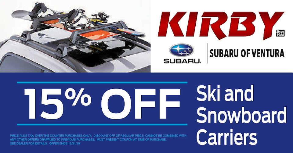 15% OFF Ski and Snowboard Carriers