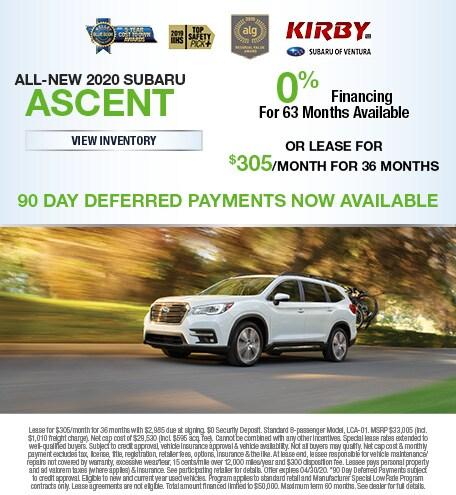 All-New 2020 Subaru Ascent