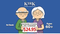 Senior Citizen Oil Change Special