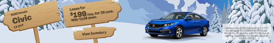 January 2020 Honda Civic LX CVT