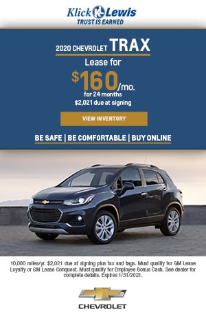 January | 2020 Chevrolet Trax | Lease Offer