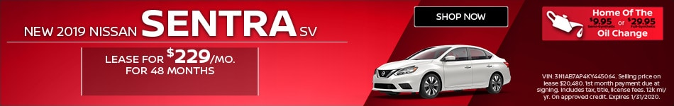 New 2019 Nissan Sentra SV   Lease