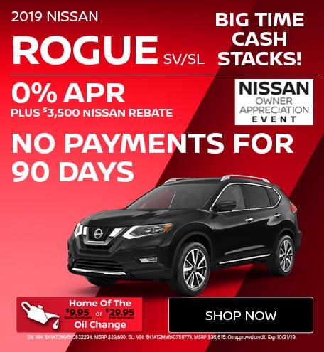 New 2019 Nissan Rogue SV/SL | Big Time Cash Stacks
