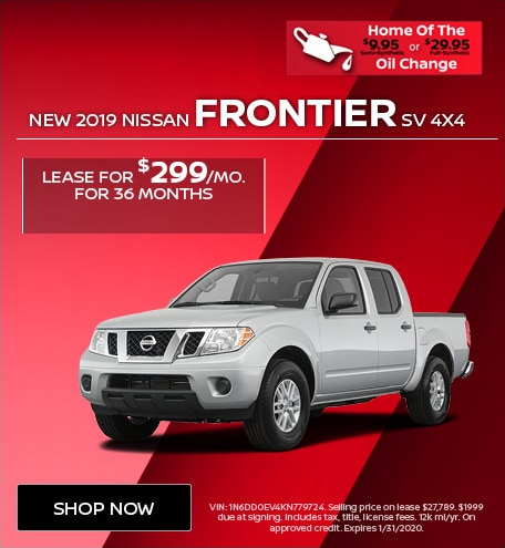 New 2019 Nissan Frontier SV 4x4 | Lease