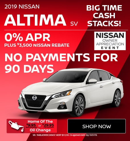 New 2019 Nissan Altima SV | Big Time Cash Stacks
