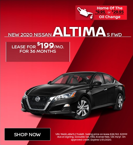 New 2020 Nissan Altima S FWD | Lease