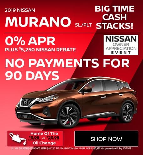 New 2019 Nissan Murano SL/PLT | Big Time Cash Stacks