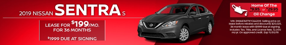 New 2019 Nissan Sentra S | Lease