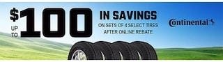 Continental $100 Online Rebate