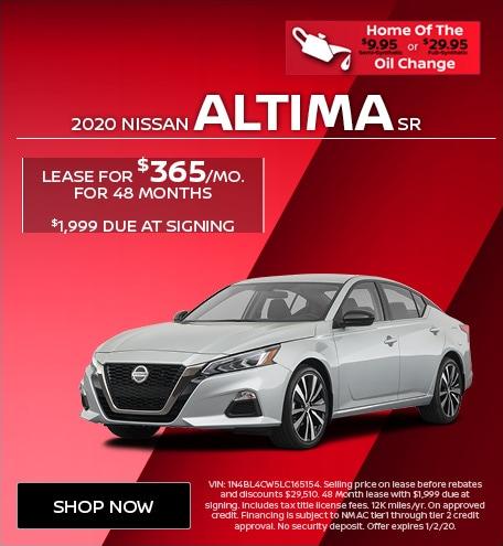 New 2020 Nissan Altima SR   Lease