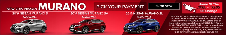 New 2019 Nissan Murano | Pick Your Payment