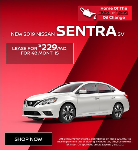 New 2019 Nissan Sentra SV | Lease