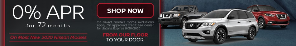0% APR on Most New Nissan Models