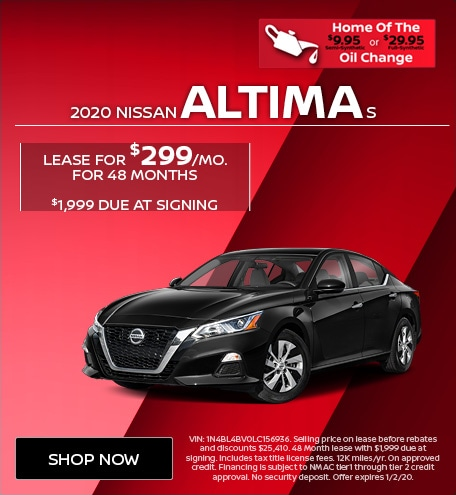 New 2020 Nissan Altima S   Lease