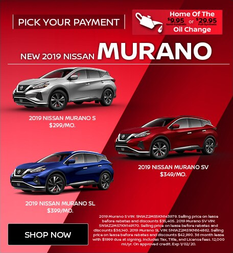 New 2019 Nissan Murano   Pick Your Payment