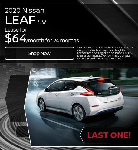 2020 Nissan Leaf SV - Lease
