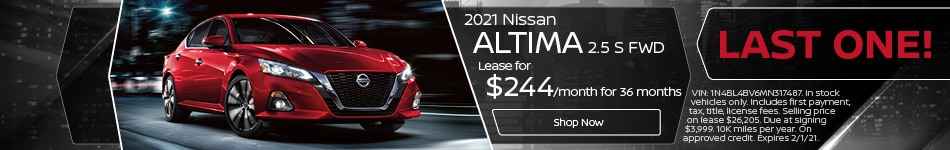 2021 Nissan Altima 2.5 S FWD - Lease