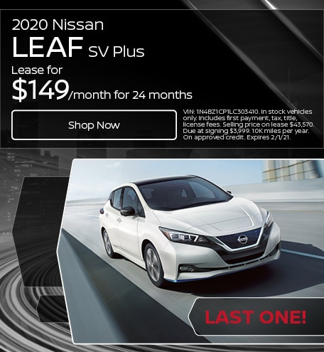 2020 Nissan Leaf SV Plus - Lease