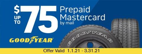 Good Year $75 Prepaid Mastercard