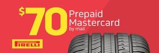 Pierelli Tire $70 Prepaid Mastercard Card