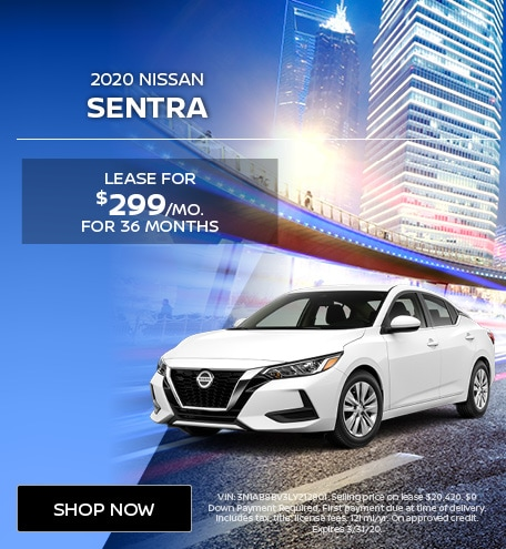 New 2020 Nissan Sentra   Lease