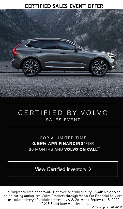 Volvo Certified Pre-Owned >> Certified Pre Owned Vehicle Specials Kline Volvo Certified Used