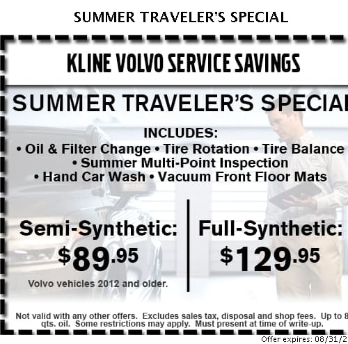 Oil Change Coupons Mn >> Auto Repair Specials At Kline Volvo Cars Of Maplewood Auto Service