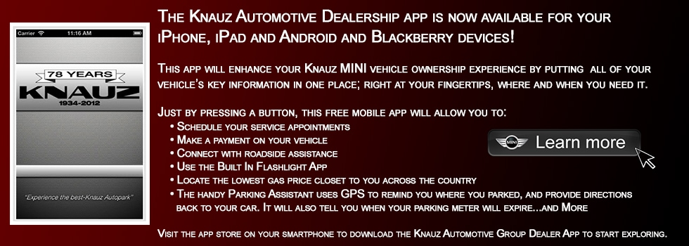 The Knauz Automotive Dealership App | Knauz MINI