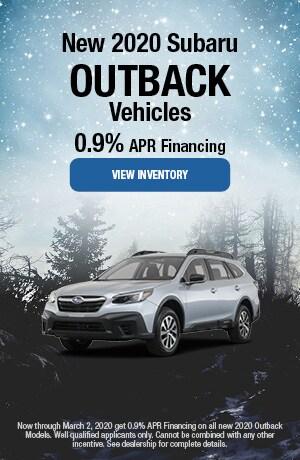 February 2020 Subaru Outback Vehicles