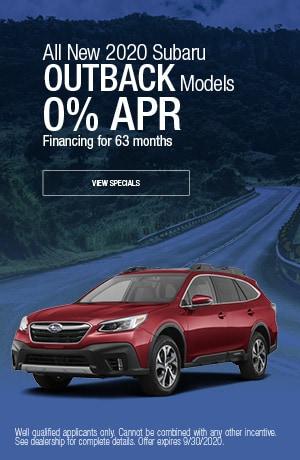 September All New 2020 Subaru Outback Models Finance Offer