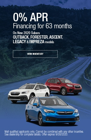 September 0% APR Financing for 63 months Offer