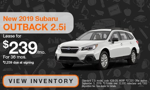 August 2019 Outback 2.5i Lease Offer