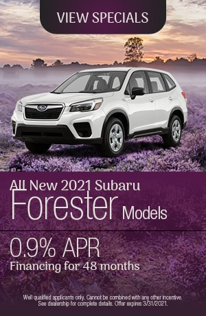 March All New 2021 Subaru Forester Models Offer