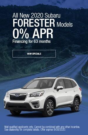 September All New 2020 Subaru Forester Models Finance Offer
