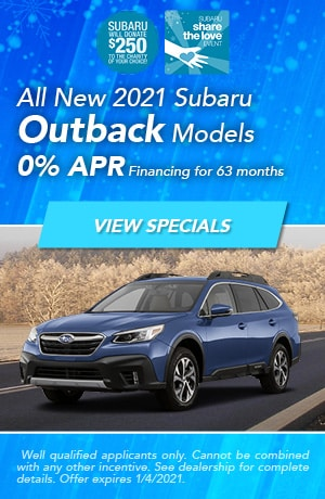December All New 2021 Subaru Outback Models Offer