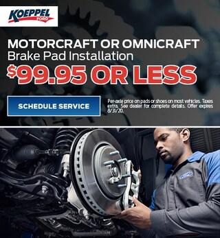 Motorcraft or Omnicraft Brake Pad Installation