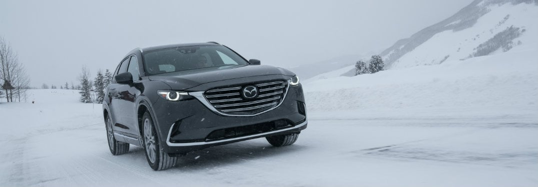 Mazda SUV in Snow