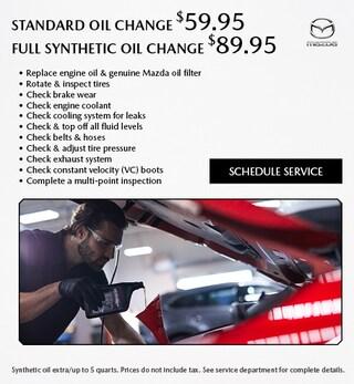 Standard Oil Change/Full Synthetic Oil Change