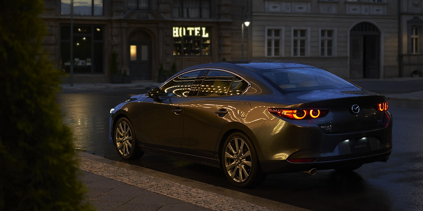 2019 Mazda3 at Nighttime