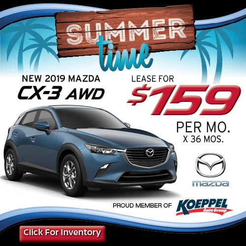 Mazda CX 3 Lease For $159/mo Koeppel Mazda Lease