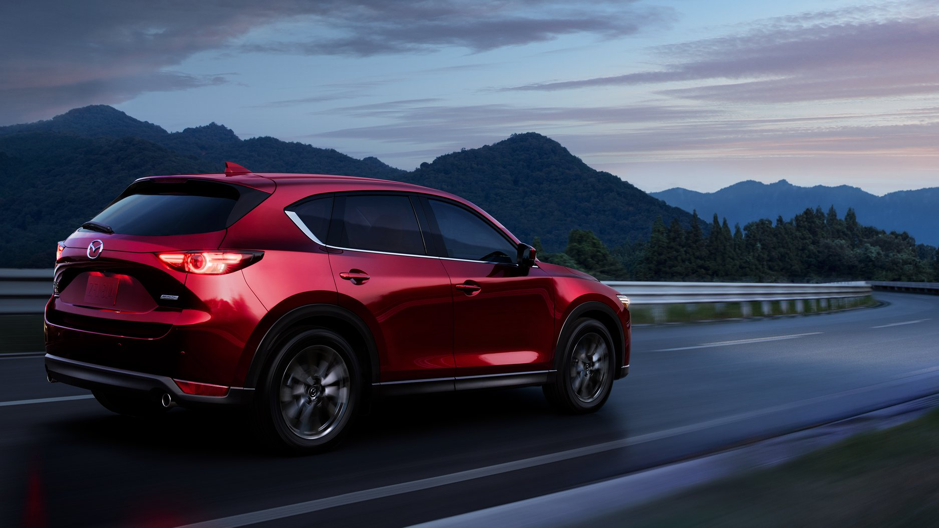 Red 2019 Mazda CX-5 Touring on road