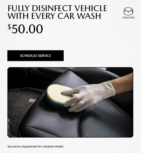 Fully disinfect vehicle with every car wash